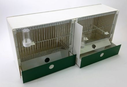JH Double Training Cage - FINCH / CANARY ~ 63X30X18 - JH ~ Training Cages (Made to order)(16P163)